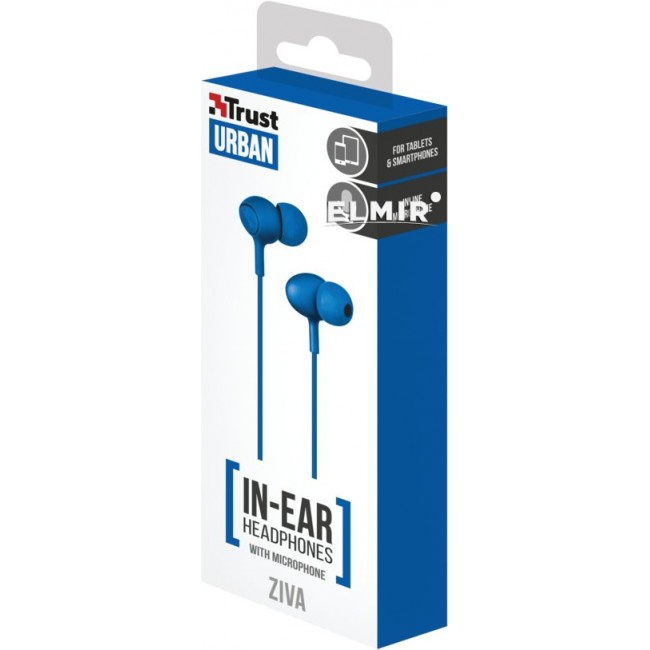 Trust Urban Headphone Ziva With Micro Blue