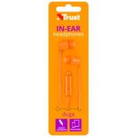 Trust Auriculares Duga Naranja