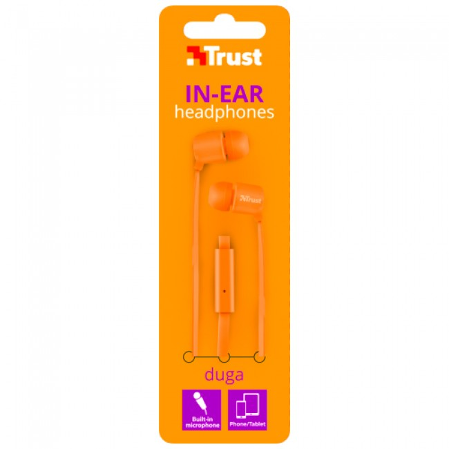 Trust Headphone Duga Orange