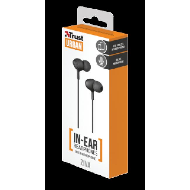 Trust Urban Headphone Ziva With Micro Black