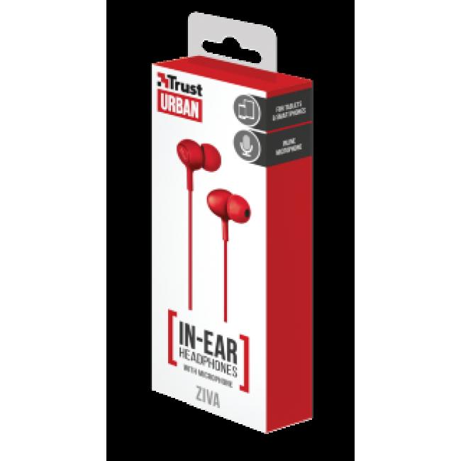 Trust Urban Headphone Ziva With Micro Red