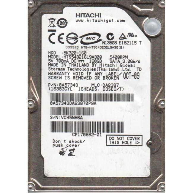 "Disco duro Hitachi 160GB 2,5"" Refurbished"