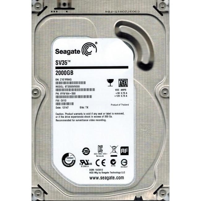 "Disco duro Seagate SATA 2TB 3.5"" HDD 7200RPM"