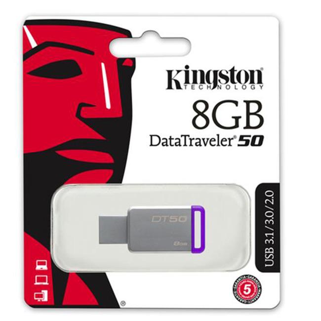 Kingston DataTraveler 50 8GB USB 3.1/3.0/2.0