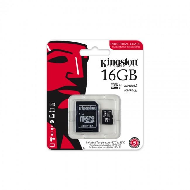 Kingston MicroSDHC 16GB class 10 industrial grade