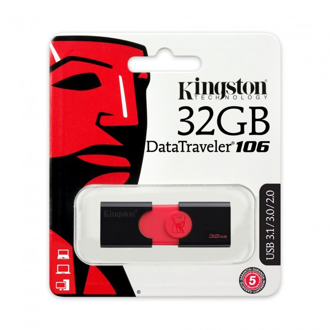 Kingston DataTraveler 106 32GB USB 3.1/3.0/2.0