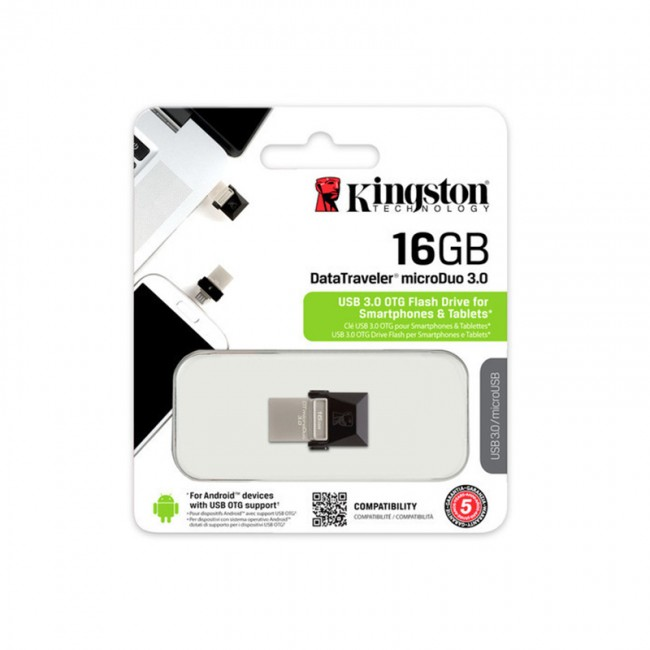 Kingston Dual USB Drive 16GB USB 3.0 OTG