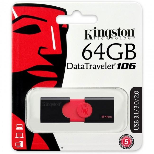 Kingston DataTraveler 106 64GB USB 3.1/3.0/2.0