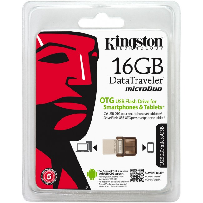 Kingston DataTraveler microDuo 16GB USB 2.0 OTG