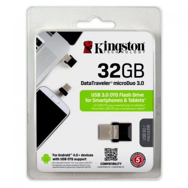 Kingston DataTraveler microDuo 32GB USB 3.0 OTG