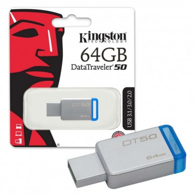 Kingston Datatraveler 50 64GB USB 2.0/3.0/3.1