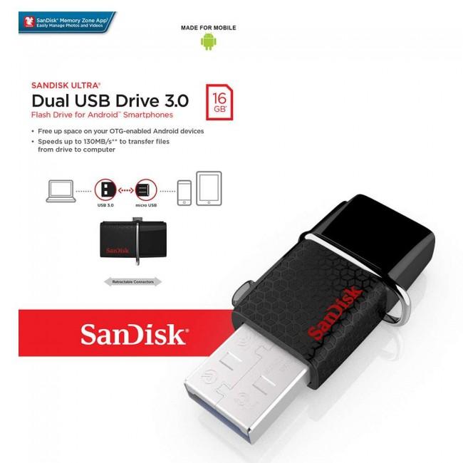 Sandisk Dual USB Drive 16GB USB 3.0 OTG