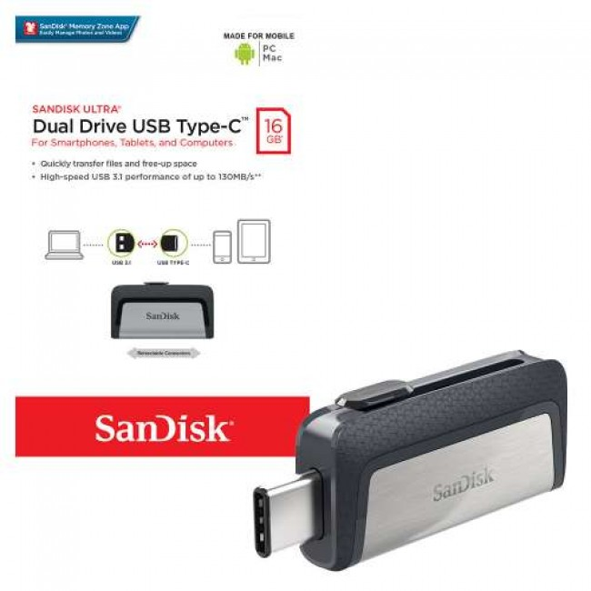 Sandisk Dual USB 16GB Type-C