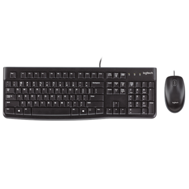 Keyboard and mouse logitech mk120