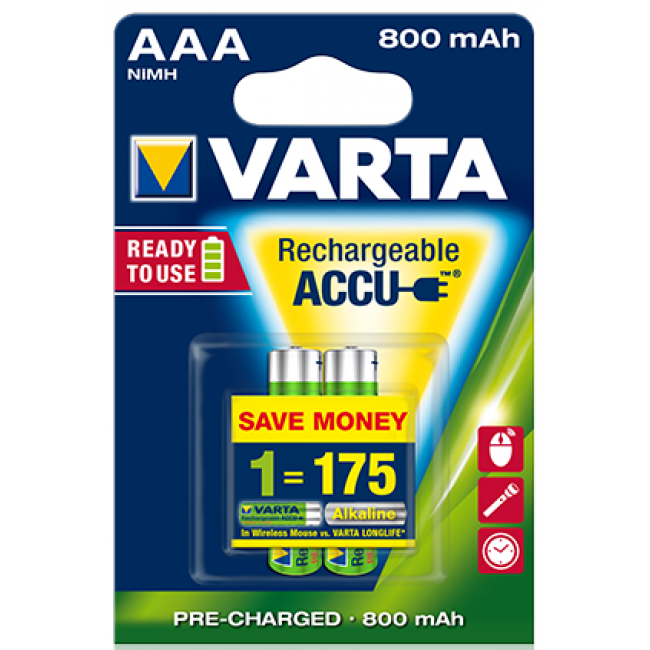 Batteries AAA Rechargeable Varta 6Pack