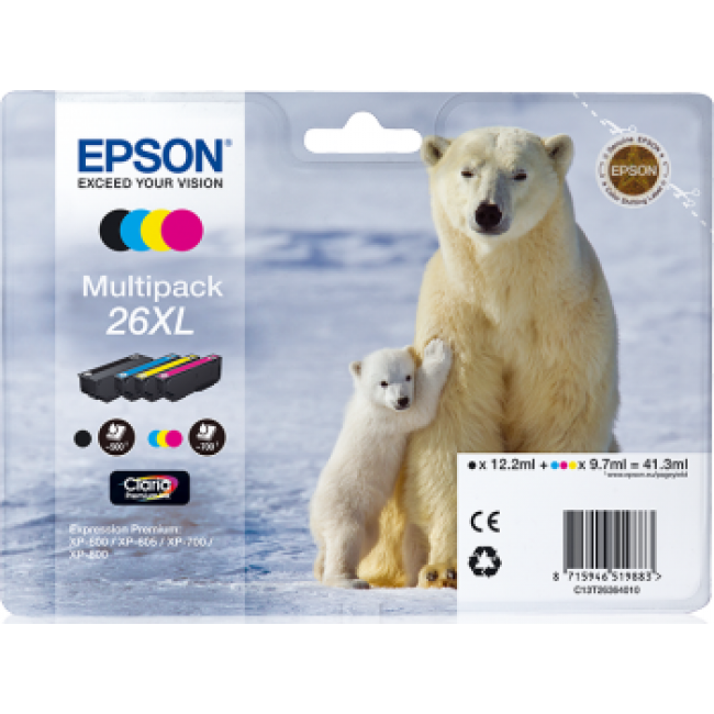Epson Tinta 26 XL - Tri-color