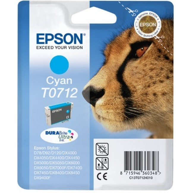 Epson Tinta T0712 Cyan