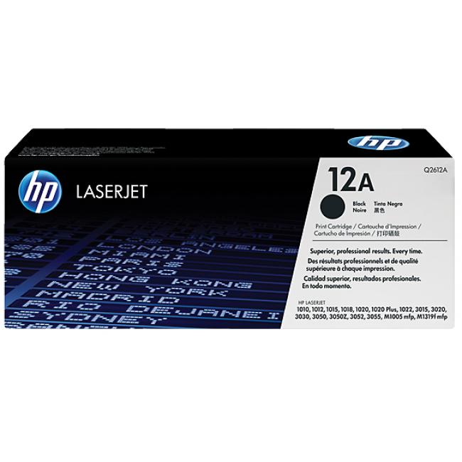 HP Tóner Q2612A Negro