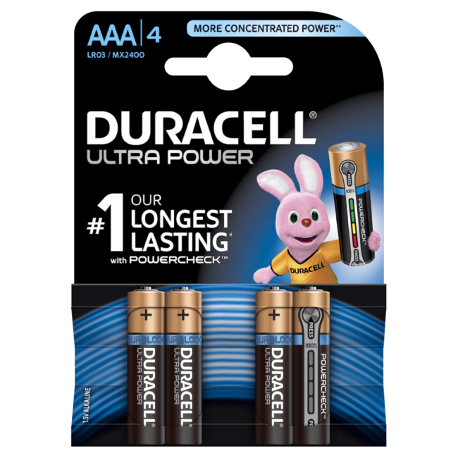 Batteries AAA Duracell UltraPower