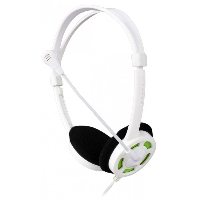 Headset VoIP LEOTEC White & Green
