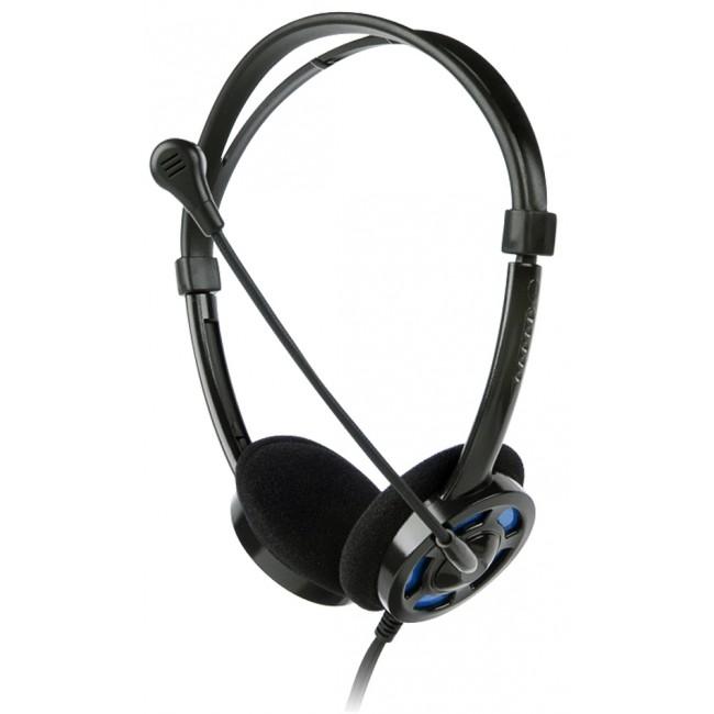 Headset VoIP LEOTEC Black & Blue