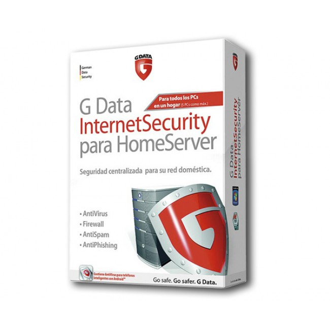 G Data Internet Security para Home Server (5 PCs)