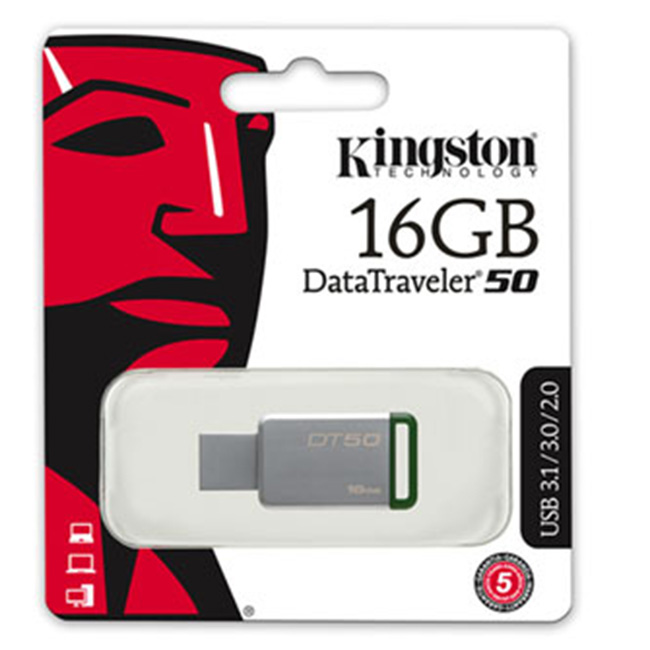 Kingston DataTraveler 50 16GB USB 3.1/3.0/2.0