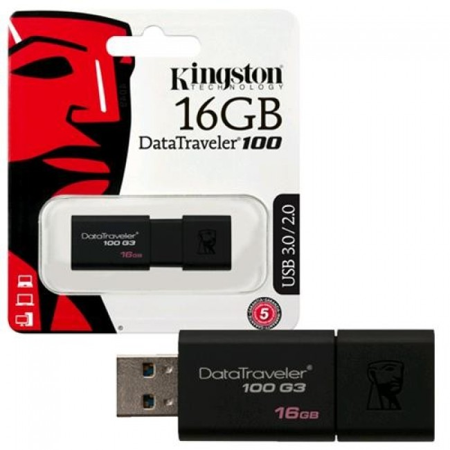 Kingston DataTraveler 100 16GB USB 3.1/3.0/2.0
