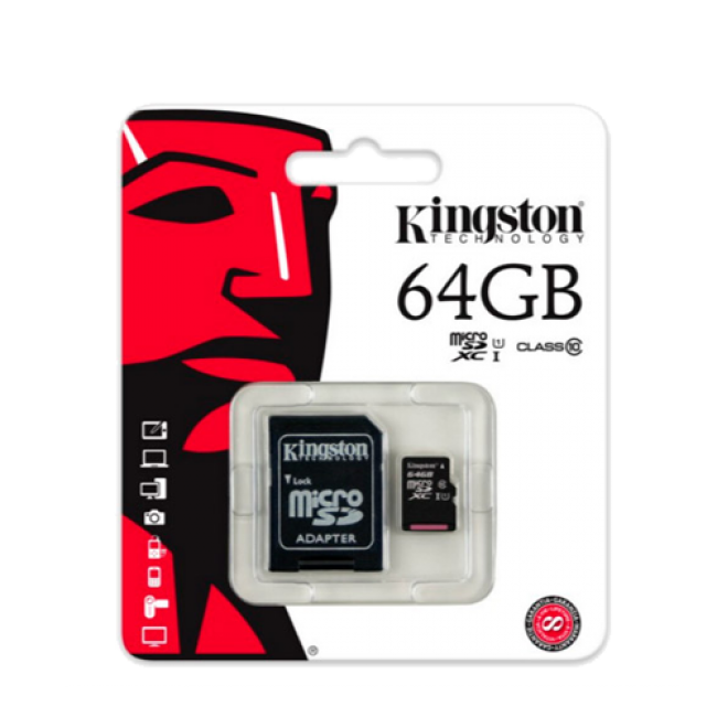 Kingston MicroSDHC 64GB class 10