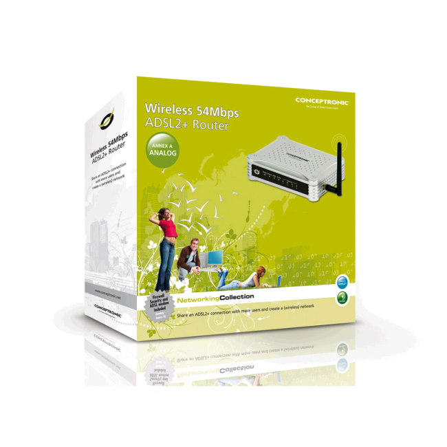 Router Wireless 54Mbps ADSL2+ Conceptronic