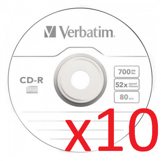 Verbatim CD-R/RW 10 Unidades