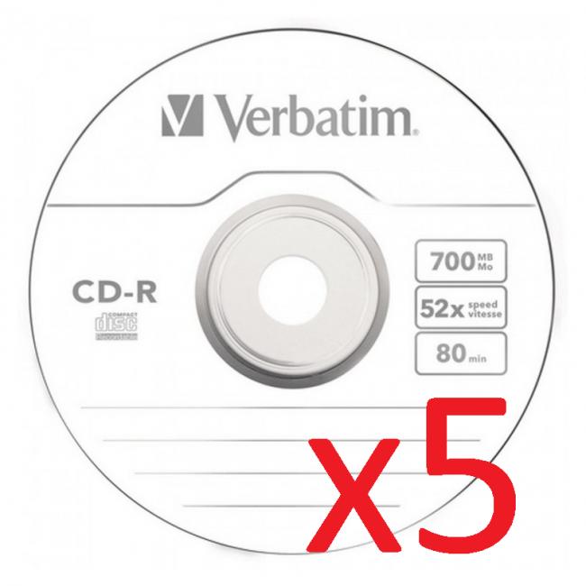 Verbatim CD-R/RW 5 Unidades